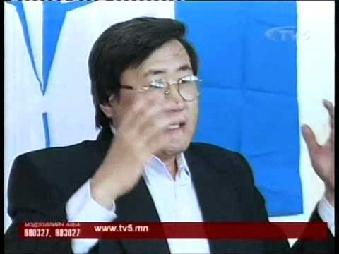 """Together for Southern Mongolia!"" press conference. TV5 television"