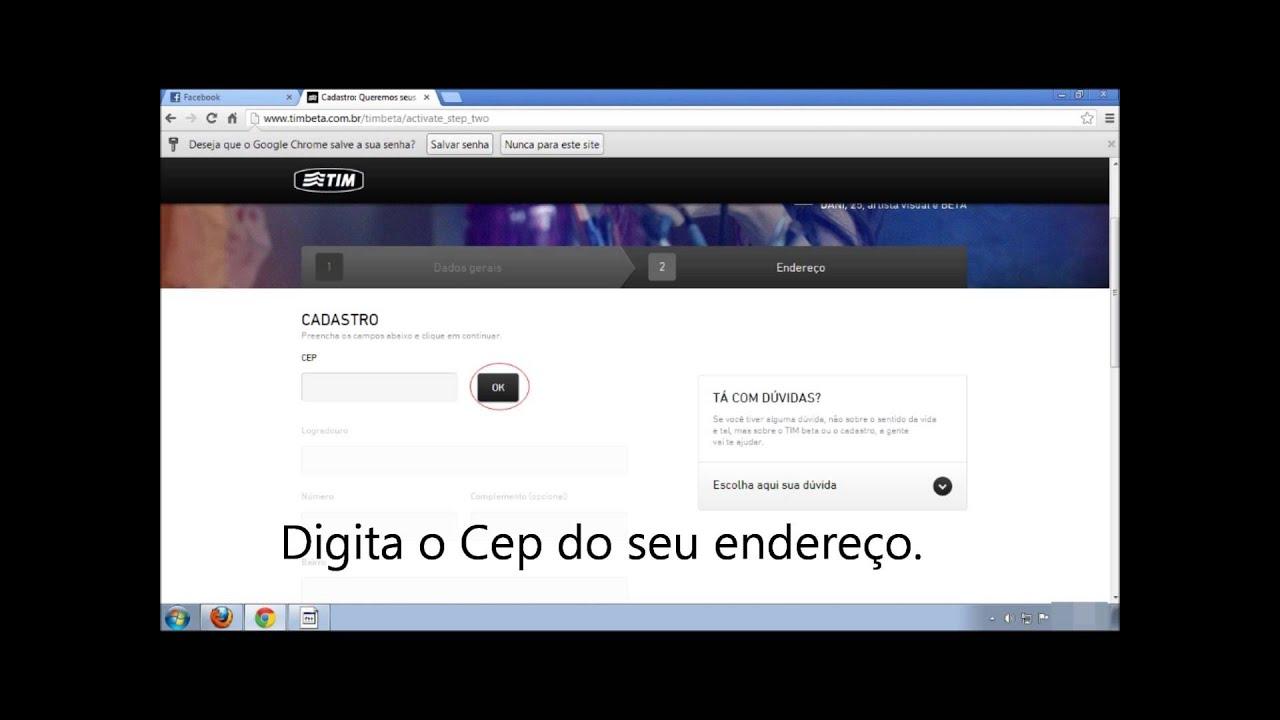 Como Receber O Chip Tim Beta No Facebook Com 2 Minutos Youtube