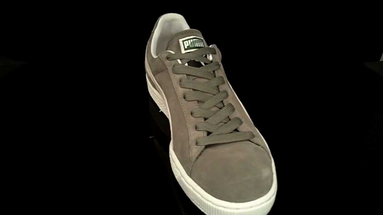 a4ea3e2d9c7 Puma Suede Classic Steeple Gray White 352634 - YouTube