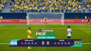 PES 2021 - ARGENTINA vs BRAZIL - Penalty Shootout - Neymar vs Messi - New Season - Gameplay PC