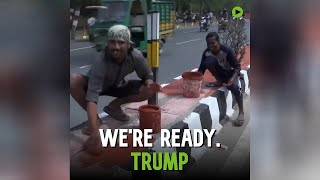 Getting ready for Trump: Taj Mahal and surrounding area get squeaky clean