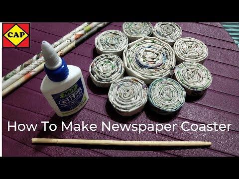 How To Make Newspaper Coaster | Paper Coasters