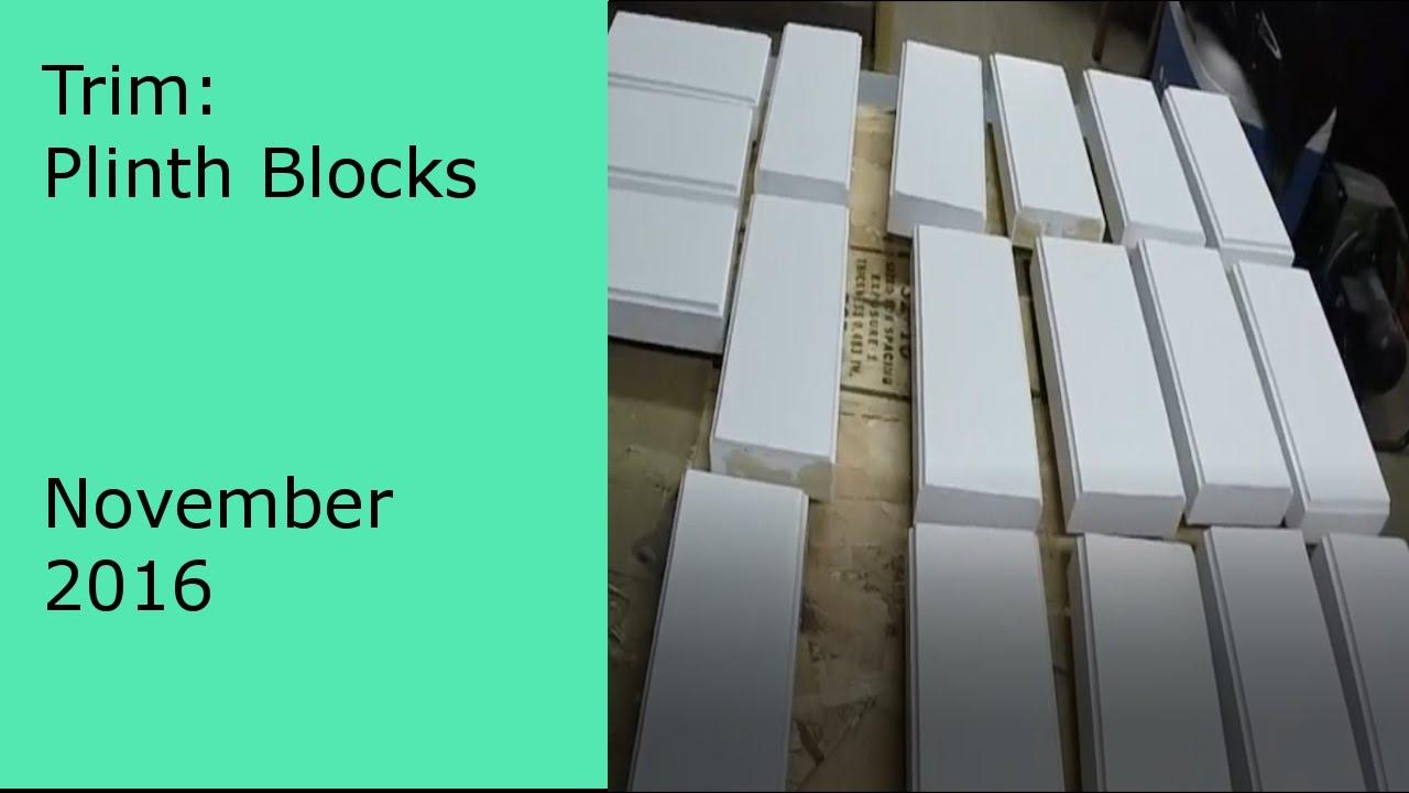 Diy Trim Making Your Own Craftsman Style Plinth Blocks