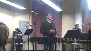 Jose Llana sings Being Alive & Multitudes of Amys