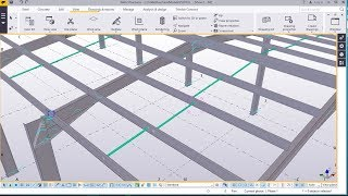 How to create Anti-sag rod for Eaves and roof purlins | Tekla Structures 2017i