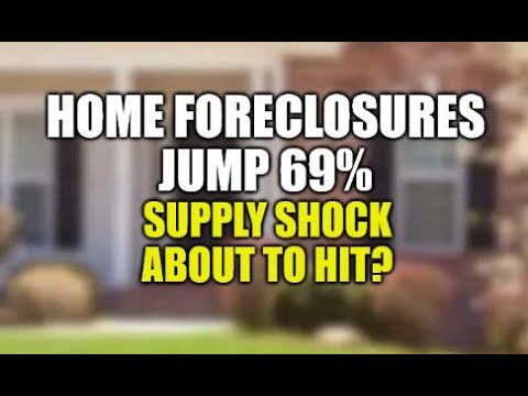 HOME FORECLOSURES JUMP! HOUSING SUPPLY SHOCK COMING, REAL ESTATE CRASH STARTING? HOME PRICES