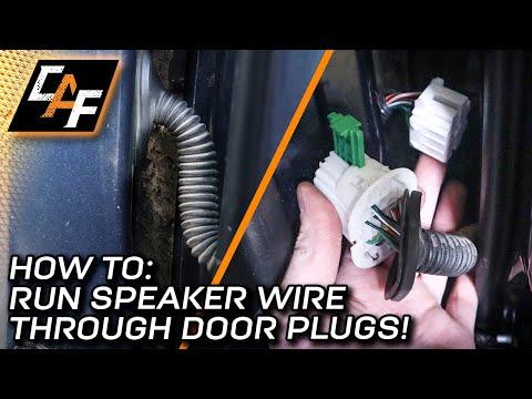 Plug Blocking Wires No Problem How To Run Speaker Wire Through Door Plugs Youtube