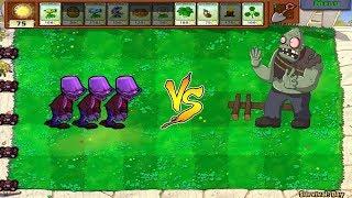 Plants vs Zombies Hack - Hypno-shroom vs Football Zombies vs Gargantuar