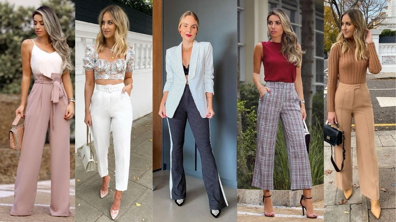 Combinaciones De Moda Con Pantalones De Vestir Como Usar Pantalones De Vestir Moda 2021 Mujer Youtube