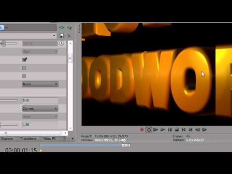 BCC Extruded Text in Sony Vegas Pro thumbnail