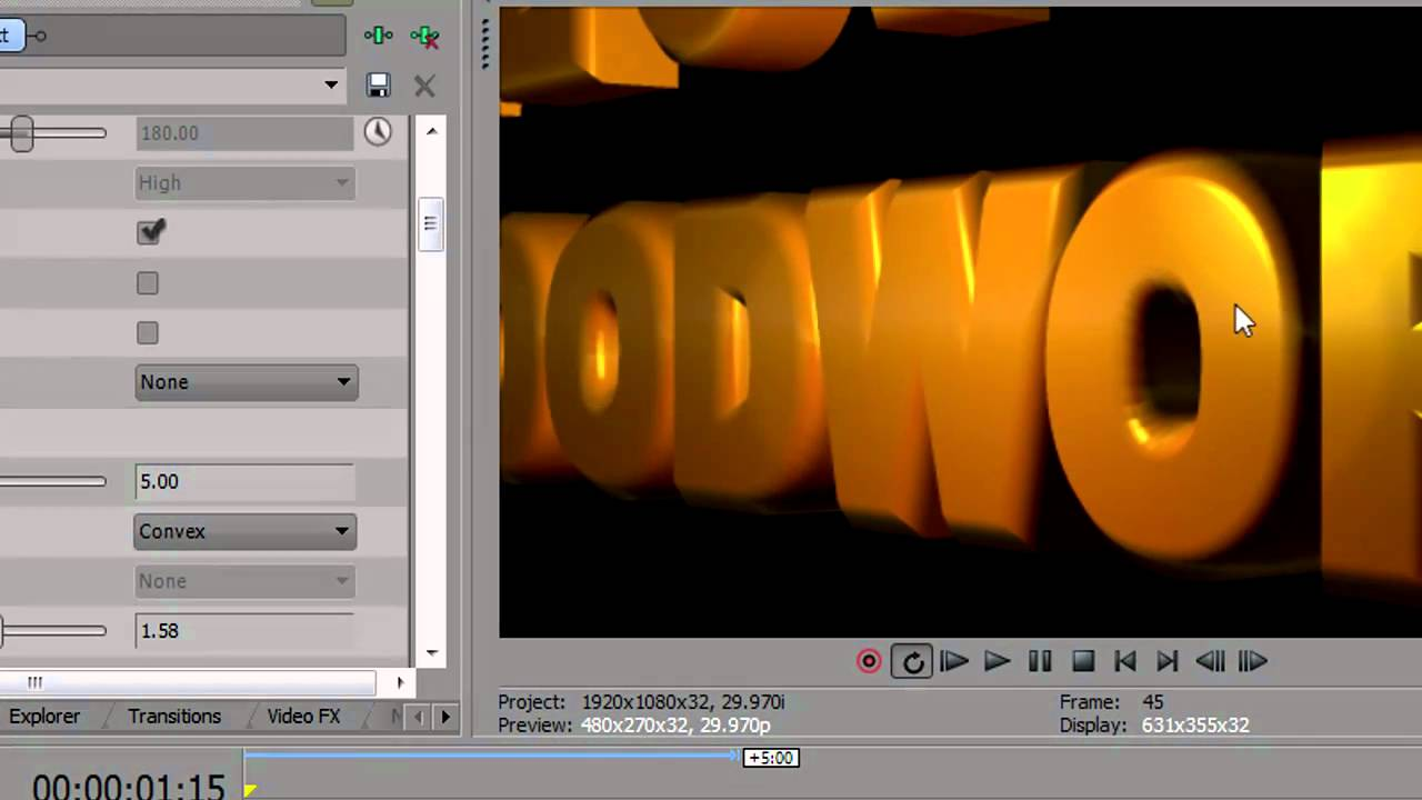 bcc extruded text sony vegas pro 10