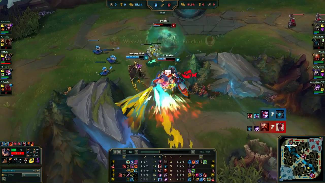 Skt t1 marin rumble contra tahm kench euw lol master 185lp
