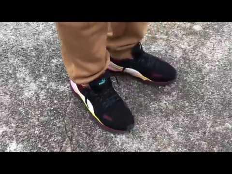 detailed look b754b d260b Puma x Alexander McQueen Tech Runner Lo (On Foot) - YouTube