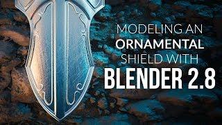 Modeling an Ornamental Shield in Blender (2.8)