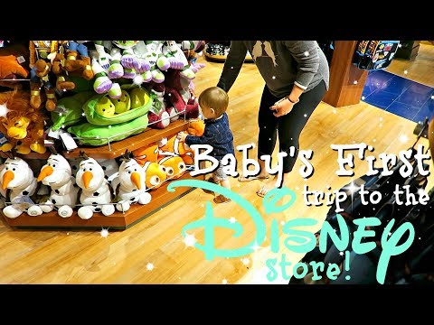 BABY'S FIRST TRIP TO THE DISNEY STORE || ADORABLE REACTION!
