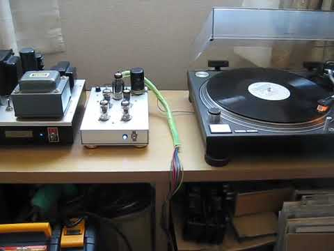 Amplifier by Mizushma Sound and LP play by SRPP RIAA