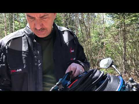 Motorcycle survival bag
