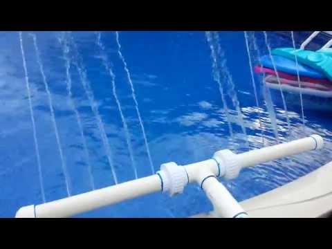 New homemade pool fountain