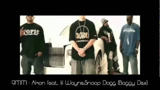9MM   Akon feat  lil Wayne,Snoop Dogg  (Baggy Dex) Official Music Video