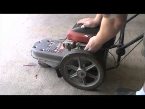 Craftsman 5.0HP Weed Whacker On Wheels Cold Start - YouTube