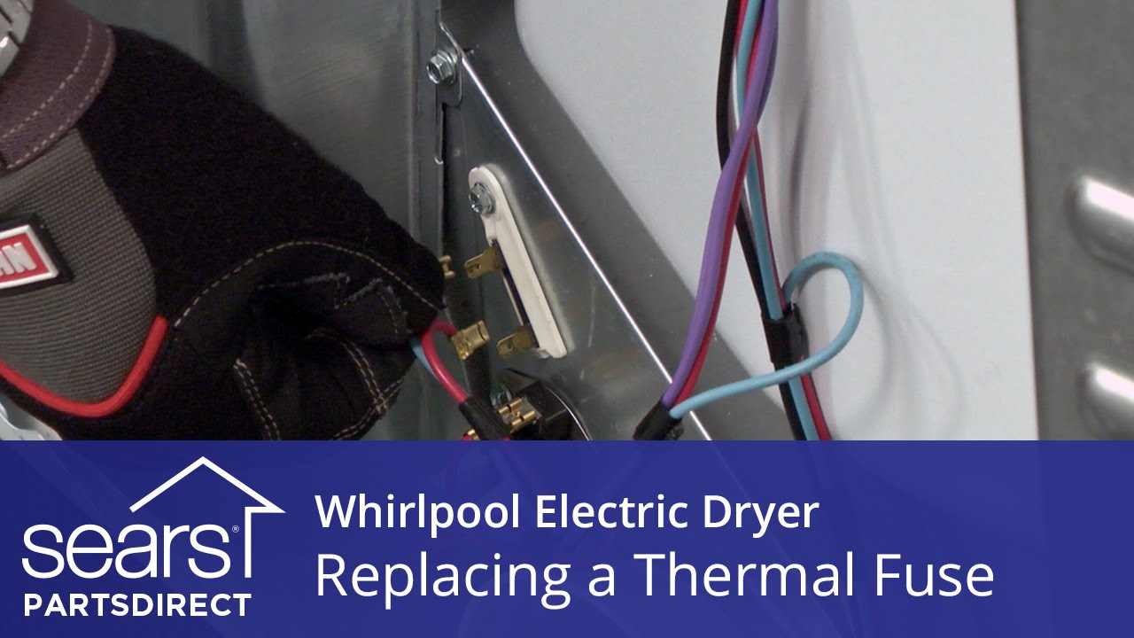 how to replace a whirlpool electric dryer thermal fuse youtube fuse box on roper dryer [ 1280 x 720 Pixel ]