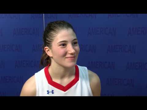 @AU_WBasketball Postgame Interview - Emily Fisher Vs. Loyola Maryland (1/16/19)