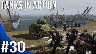 Men of War Red Tide Walkthrough - Blue Line - Tanks in Action