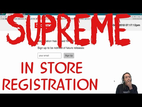 Supreme How to Register for a Thursday Drop! - YouTube a1a6acf941a