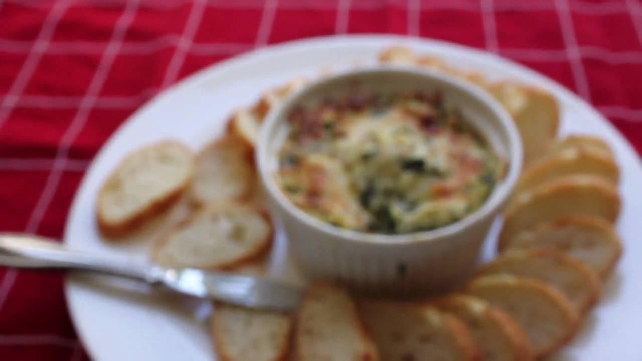 Spinach Artichoke Dip Recipe - Hot Spinach and Artichoke Super Bowl Dip