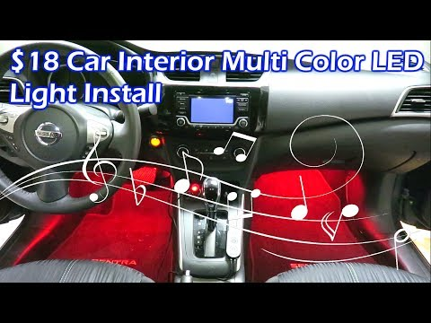 $18 Multi Color LED Light Install & Sound Activation