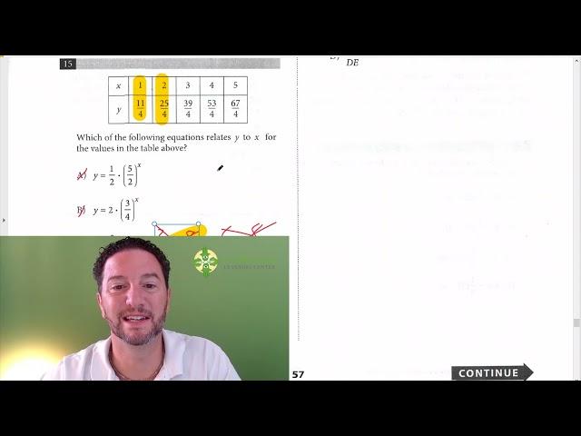 SAT Math, Test 6, Section 4, Number 15