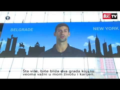 Novak Djokovic Speech - Air Serbia - Direct Flight Nikola Tesla Belgrade Airport - JFK New York
