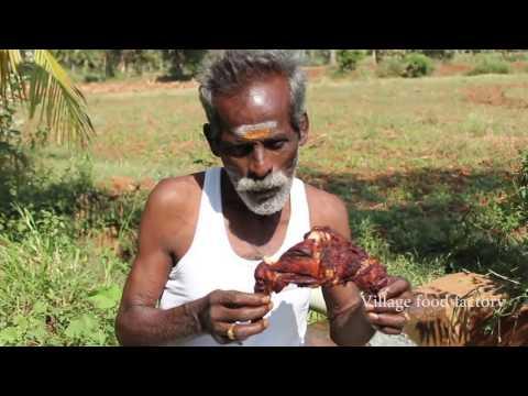 Full CHICKEN Fry Prepared by my daddy in my village farm / VILLAGE FOOD FACTORY