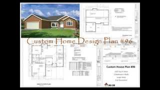 1,627-Square-Foot House Plan, Custom Home Design Plan #96