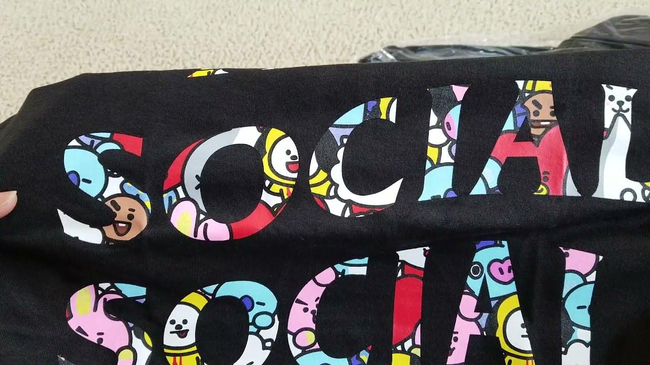 ae1ea6f717293 BT21 x Anti Social Social Club Collab Blended Black Tee   Hoodie + Try On  Body! 12 22 18!