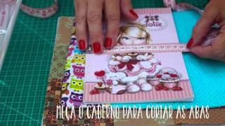 Como calcular uma capa de caderno? (Tutorial Patchwork)