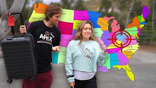 letting STRANGER decide which STATE WE FLY to.. *this is crazy*