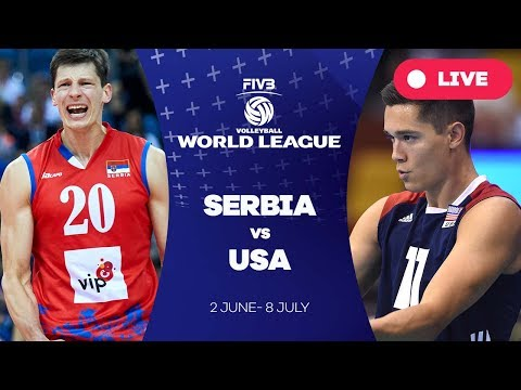 Serbia v USA - Group 1: 2017 FIVB Volleyball World League