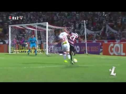 Santa Cruz 1 x 2 São Paulo gols e melhores momentos 07/08/16