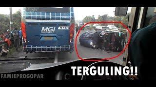 Naik Bus Primajasa Tasik-Jakarta (Klip) | Ada Kecelakaan! | Salip Kiri di Km 97 Cipularang
