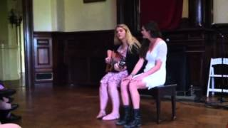 Morgan Lily O'Connor and Lily Auchincloss performing at Dohters concert 5/11/13