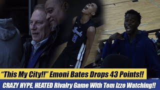 Tom Izzo Watches Crazy Rivalry Game Between Lincoln And Ypsilanti! Emoni Bates Drops 43 Points!!