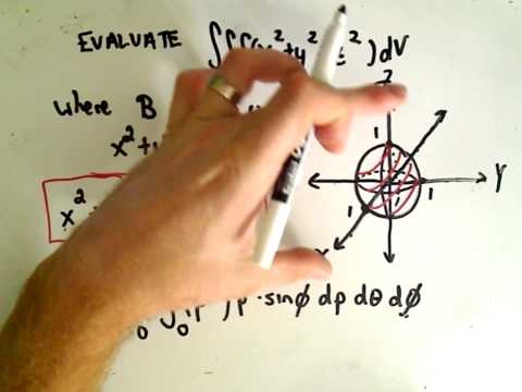Evaluating a Triple Integral in Spherical Coordinates - YouTube