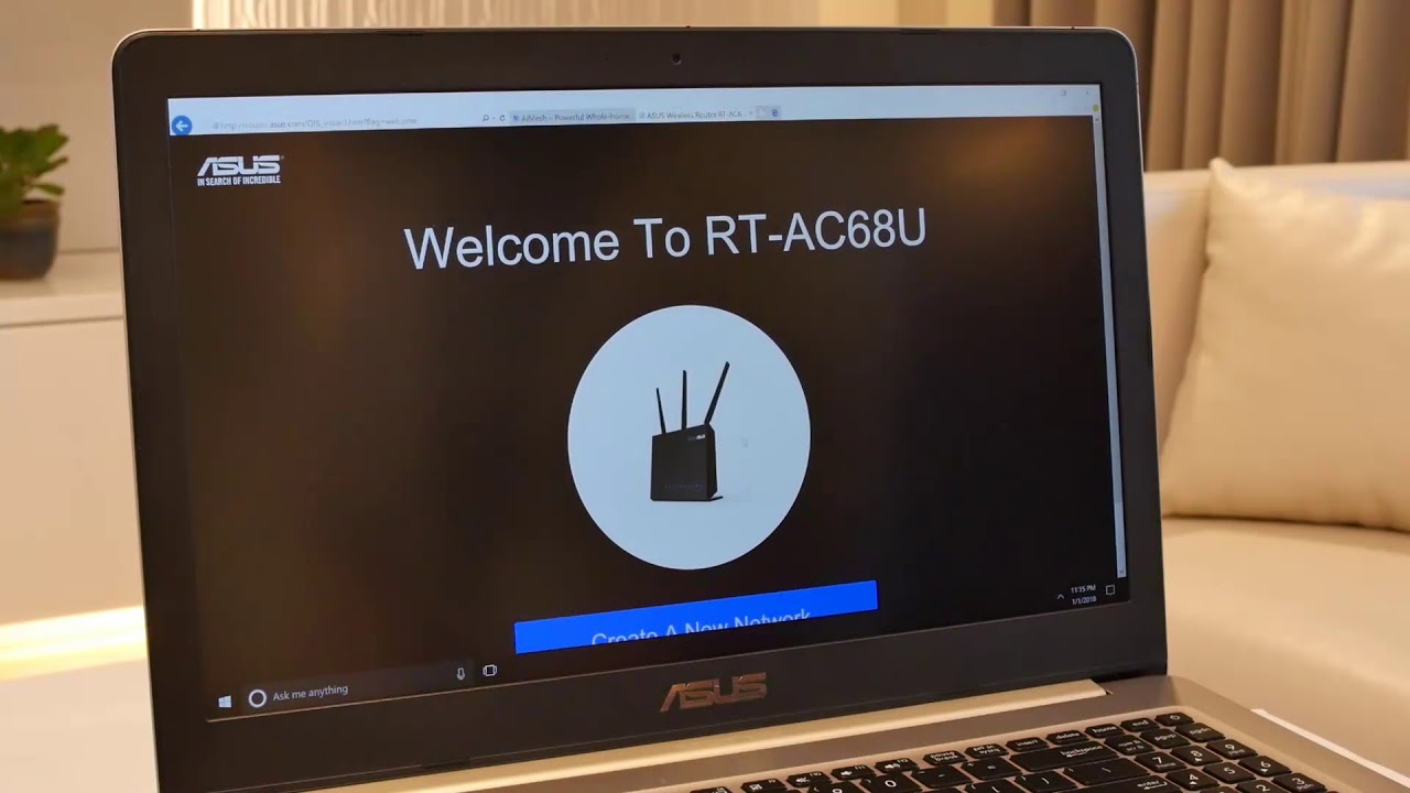 Asus RT-AC5300 Wireless AC5300 Tri-Band Gigabit Router AiMesh