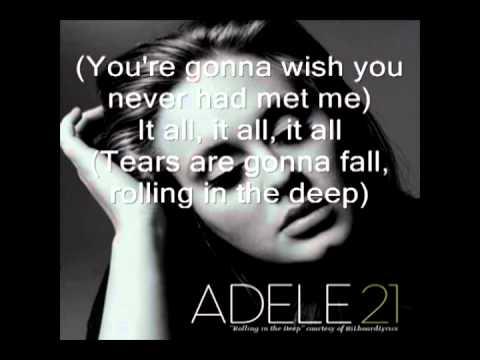 adele - rolling in the deep - Lyrics Video