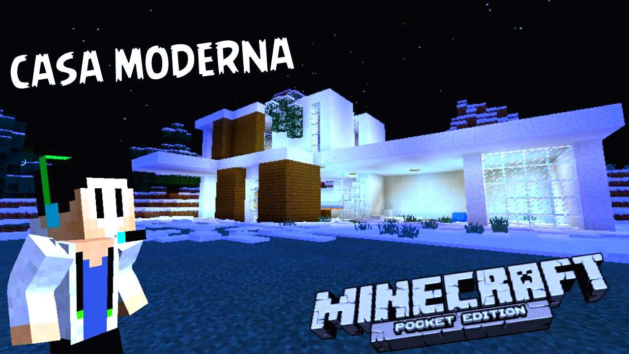 Casa moderna en la nieve minecraft pe youtube for Casa moderna en minecraft pe