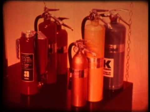 "Late 1960s US Fire Extinguisher Film ""A's B's C's & D's"""