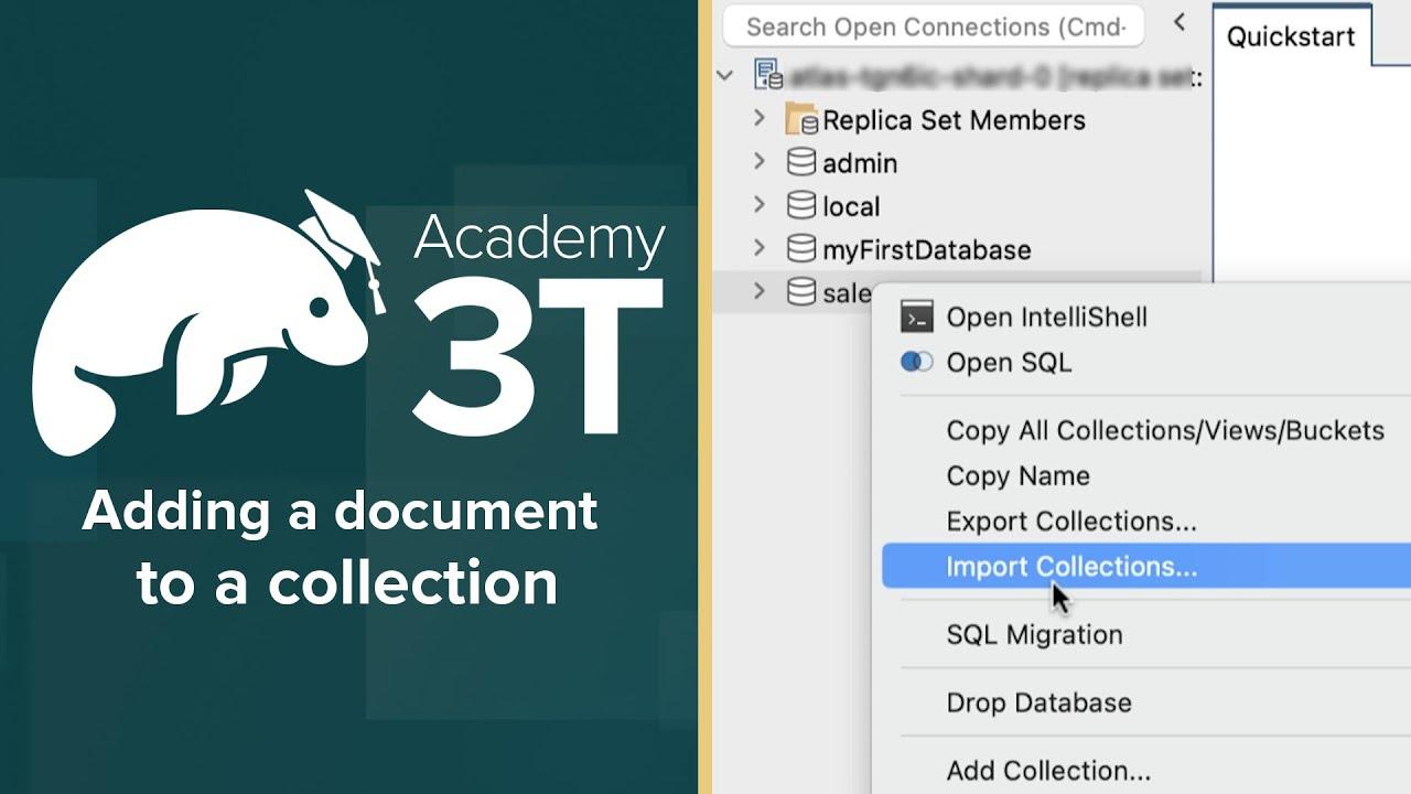 MongoDB 201_L1-E1 » Adding a document to a collection