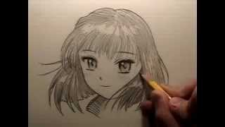 How to Draw Manga Hair [REUPLOAD to restore audio]
