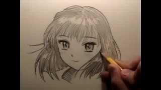 How To Draw Manga Hair REUPLOAD To Restore Audio